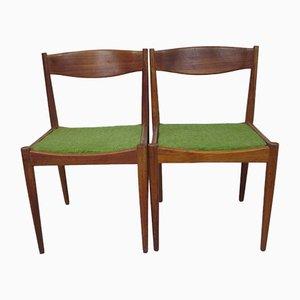 Dänische Mid-Century Esszimmerstühle aus Teakholz, 1960er, 2er Set