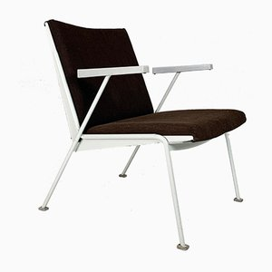 Industrial Steel Oase Chair by Wim Rietveld for Ahrend De Cirkel, 1950s