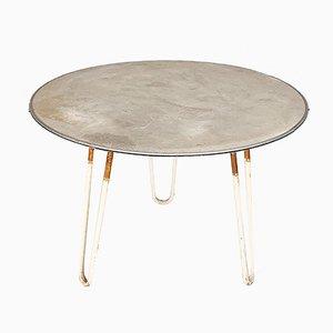 Moderner Gartentisch aus Aluminium, Laminat & Stahlrohr, 1950er