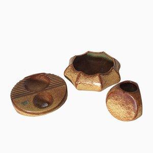 Juego de cerámicas Organic Forms vintage de Bertoncello. Juego de 3
