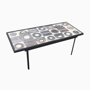 French Ceramic Coffee Table by Mado jolain & Rene Legrand, 1950s