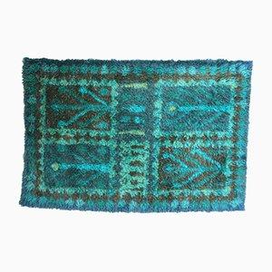 Tappeto Mid-Century in lana fatto a mano, anni '60