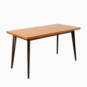 Beech and Pine Dining Table by G van Os for Meubelfabriek Van Os Culemborg, 1950s