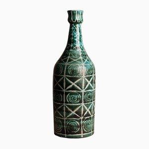 Jarrón Vallauris francés en forma de botella de Robert Picault, años 40