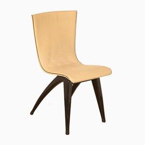 Esszimmerstühle aus Buche & Skai von G van Os für Meubelfabriek Van Os Culemborg, 1950er, 4er Set
