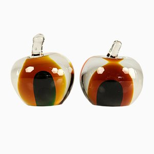 Murano Glass Apple Bookends, 1960s, Set of 2