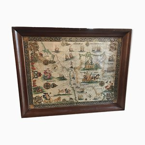 Antique Strait of ​​Gibraltar Map