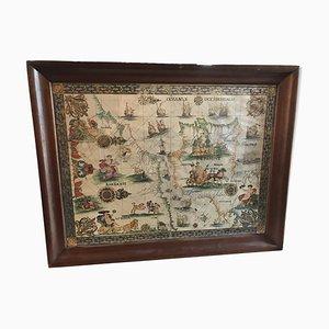 Mappa antica dello stretto di Gibilterra