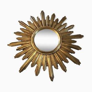 Specchio vintage a forma di sole, anni '60