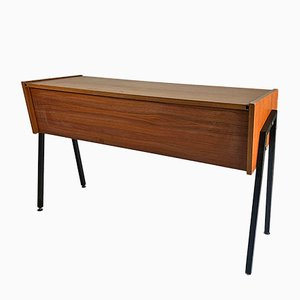 Modernist Wooden Console Table, 1950s