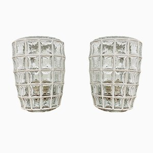German Glass Sconces from Limburg, 1960s, Set of 2