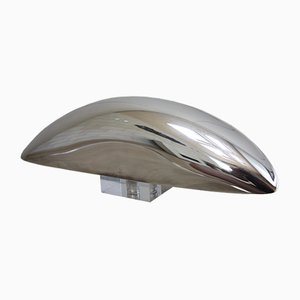 Italian Modern Silver Plated Plexiglas Sculpture by Lino Sabattini, 1976