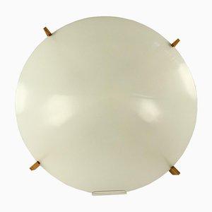 Lampada da soffitto Mid-Century in legno e lucite di Uno & Östen Kristiansson per Luxus