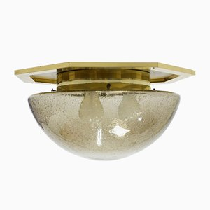 German Brass and Metal Ceiling Lamp from Limburg, 1960s