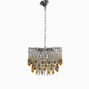 Italian Colored Glass Chandelier, 1960s