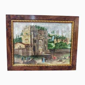 19th Century Watercolor by Onorato Carlandi