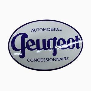 Cartel de Peugeot esmaltado, años 80