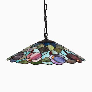 Lampada da soffitto Tiffany, Italia, anni '80