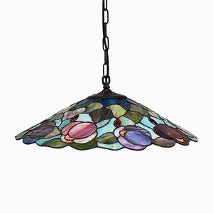 Lámpara de techo Tiffany italiana, años 80