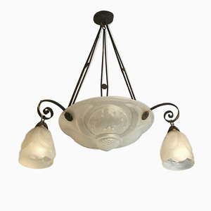 Antique Art Deco Dome Chandelier