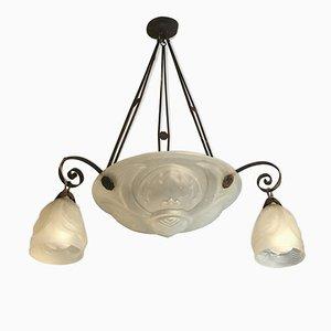Lámpara de araña Art Déco antigua