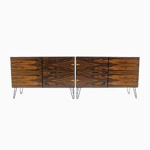 Dänische Sideboards aus Eisen und Palisander von Omann Jun, 1960er, 2er Set