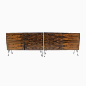 Danish Iron and Palisander Sideboards from Omann Jun, 1960s, Set of 2
