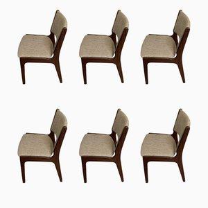 Scandinavian Modern Danish Teak Dining Chairs, 1970s, Set of 6