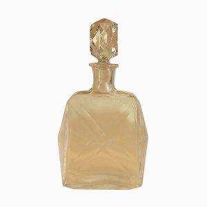 Carafe à Cognac Mid-Century en Cristal de Baccarat de Luze, 1950s