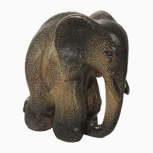 Ceramic Elephant Figurine by Elfriede Balzar-Kopp for Westerwald Art Pottery, 1950s