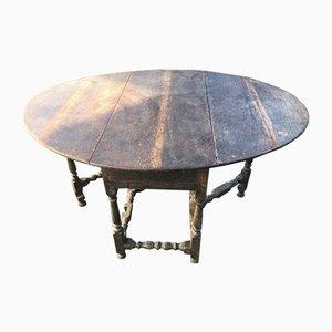 Mesa gateleg de roble, principios del siglo XVIII