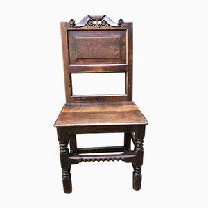 Chaise d'Appoint en Chêne, 17ème Siècle