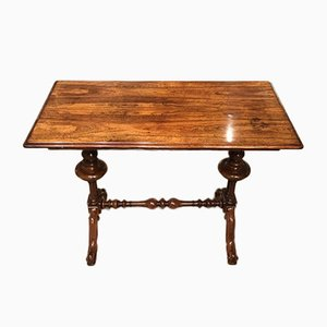 Antique Rosewood Stretcher Table, 1830s