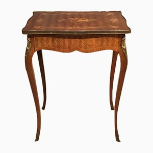 Antique French Rosewood Side Table, 1880s