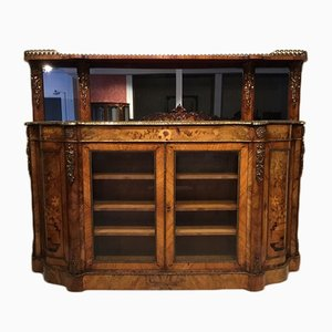 Antique Inlaid Walnut Credenza, 1860s