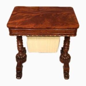 Antiker Werktisch aus Mahagoni, 1820er