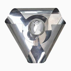 Applique Space Age vintage in alluminio anodizzato, Francia, anni '70