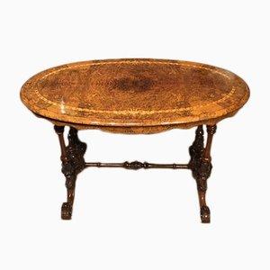 Table Basse Antique en Loupe de Noyer, 1870s