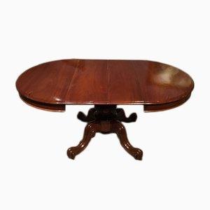 Antiker ausziehbarer Esstisch aus Mahagoni, 1860er