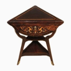 Triangular Antique Rosewood Console Table by James Shoolbred, 1900s