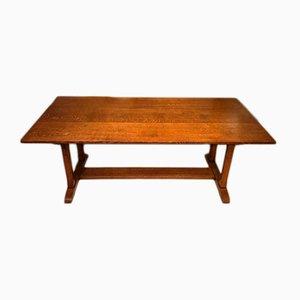Tavolo da pranzo Arts & Crafts antico in quercia