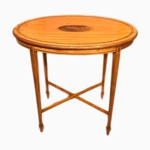 Table Console Édouardienne Antique en Bois de Satin