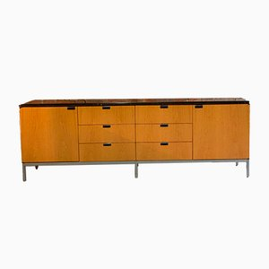 Oak and Marble Sideboard by Florence Knoll Bassett, 1970s