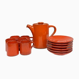 Stoneware Coffee Service by Edouard Chapallaz for Chapallaz Duillier, 1960s