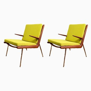 Model FD 135 Boomerang Lounge Chairs by Peter Hvidt & Orla Mølgaard-Nielsen for France & Søn, 1960s, Set of 2