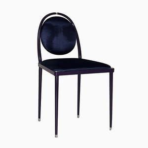 Balzaretti Chair in Purpurschwarz mit Moiré-Muster von Daniel Nikolovski & Danu Chirinciuc für KABINET, 2019