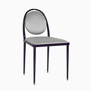 Silberner Balzaretti Stuhl aus Seide von Daniel Nikolovski & Danu Chirinciuc für KABINET, 2019