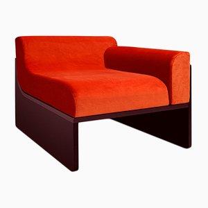 Coral Velvet Dino Lounge Chair by Daniel Nikolovski & Danu Chirinciuc for KABINET, 2019