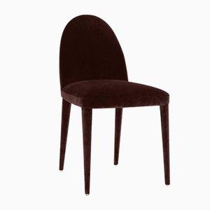 Chaise de Salle à Manger Balzaretti en Velours Chocolat par Daniel Nikolovski & Danu Chirinciuc pour KABINET, 2019