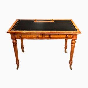 Antiker Schreibtisch aus Messing & Leder von Gillows of Lancaster